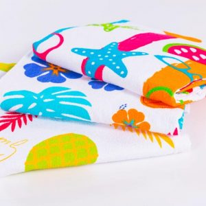 toalla playera estampada